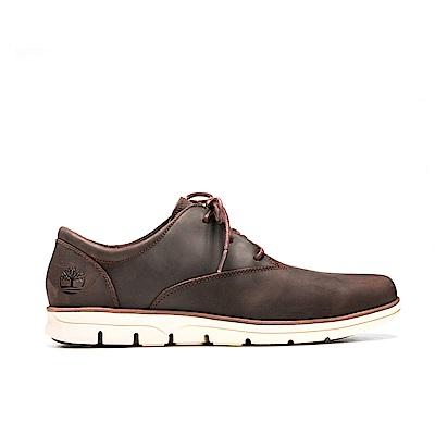 Timberland 男款深咖啡色全粒面皮革休閒鞋 | A1VWY931