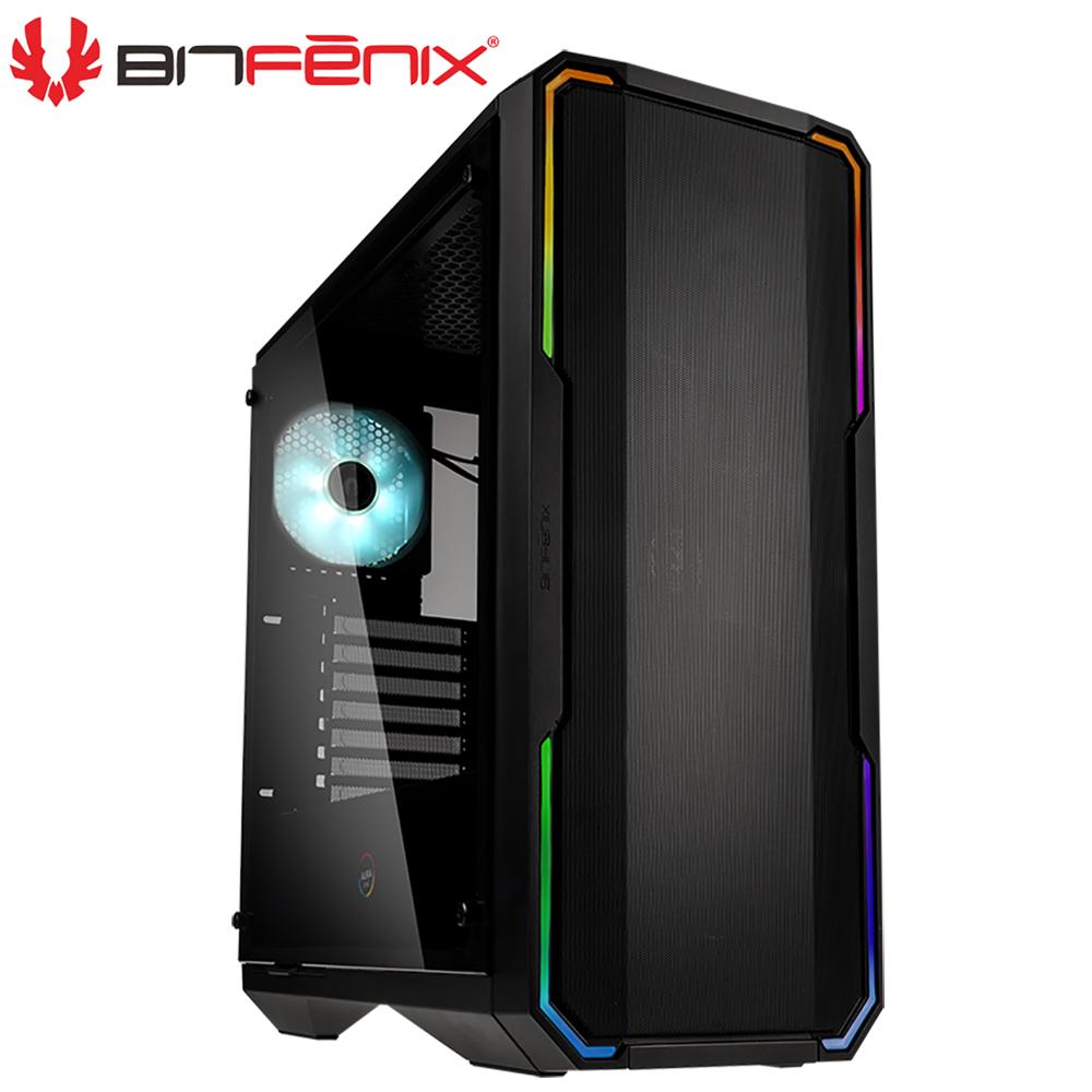 Bitfenix 火鳥 炫光戰神 黑 鐵網版 E-ATX 玻璃透側 電腦機殼