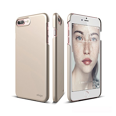 elago iPhone 8/7 Plus 經典超薄手機保護殼 - 金色