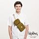 Kipling 低調皮革沉穩個性棕褐色雙格收納隨身腰包-OVANDO product thumbnail 1