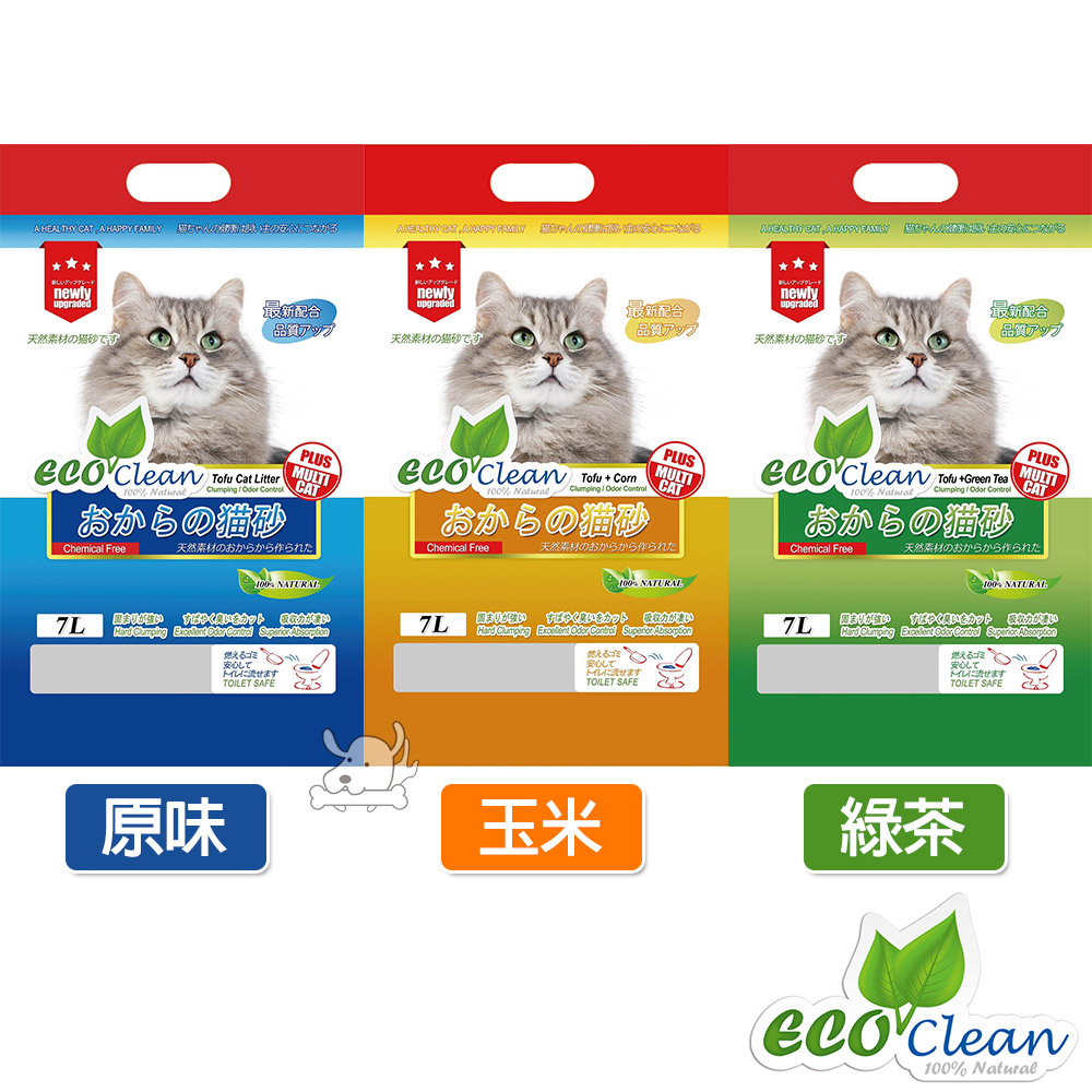 Eco Clean 艾可 天然環保 豆腐貓砂 7L