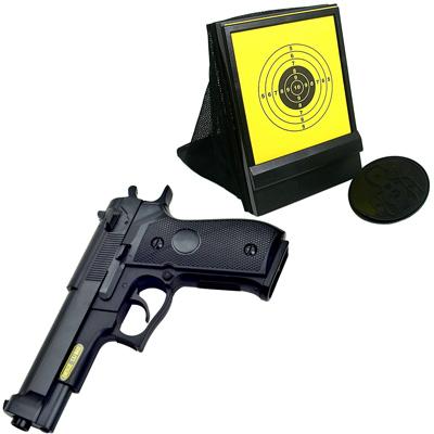 M92造型6mm彈徑手拉式空氣BB槍+網狀帶集彈器槍靶