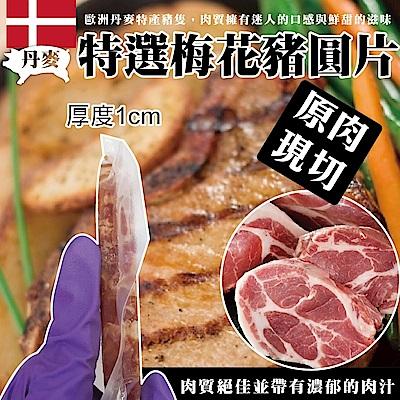 【海陸管家】丹麥特選梅花豬圓片(每片100g) x20片