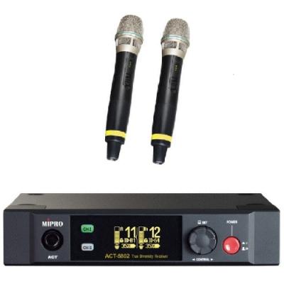 MIPRO ACT-5802 MU-90高階音頭5 GHz半U雙頻道數位接收機