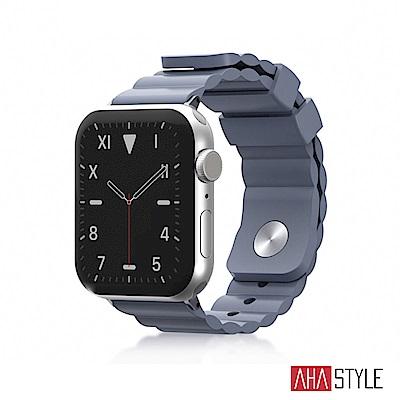 AHAStyle Apple Watch 專用運動矽膠錶帶 簡約款 (38/40mm) 灰色