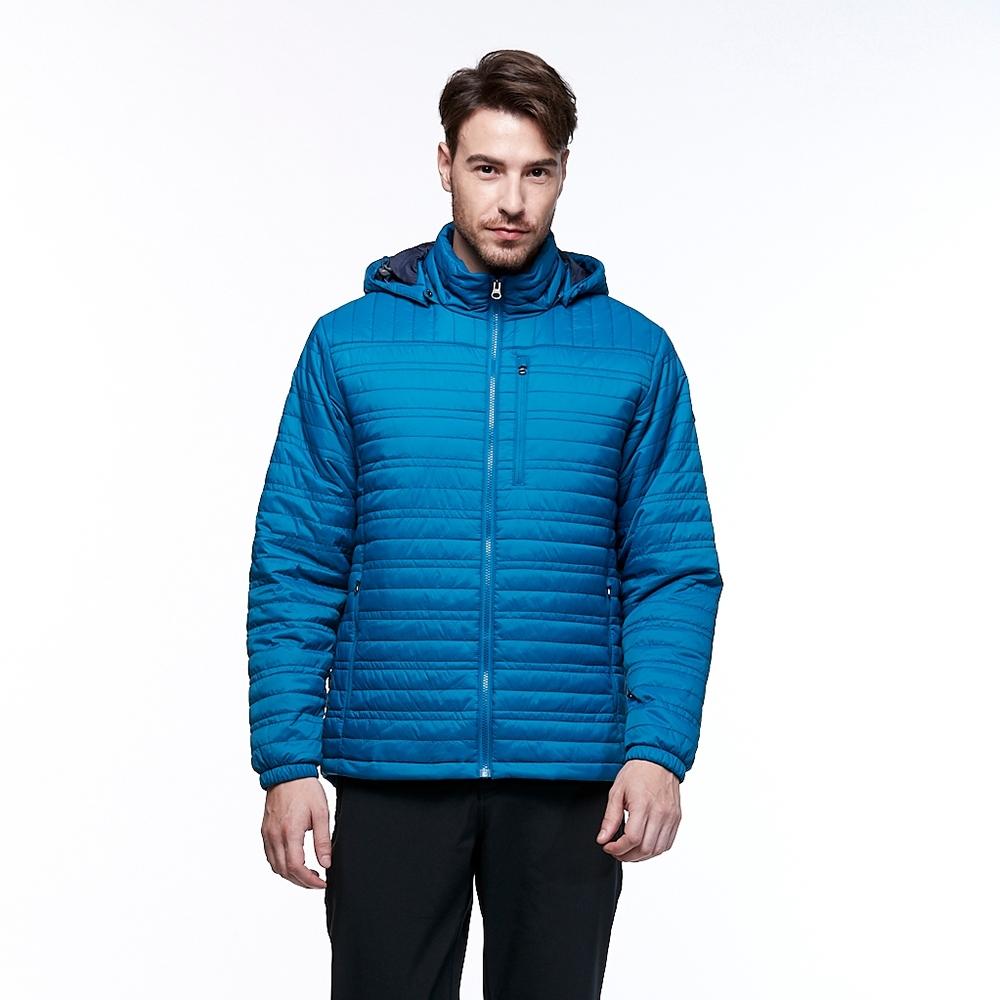 【HAKERS 哈克士】男款 防撥水保暖外套(珊瑚藍)
