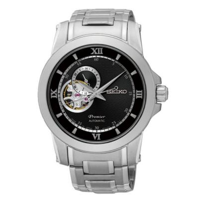 SEIKO精工 Premier鏤空開芯機械腕錶(4R39-00P0D SSA321J1)