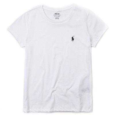 Polo Ralph Lauren 熱銷小馬圓領素面短袖T恤(女)-白色