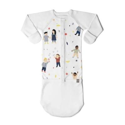 美國GOUMIKIDSxKate Pugsley有機棉嬰兒睡袍(當我們童在一起)