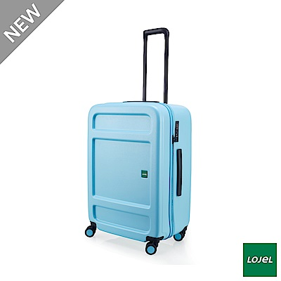 LOJEL JUNA 27吋 行李箱 雙齒防盜防爆拉鍊 飛機輪 粉藍色
