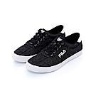 FILA 男款單寧休閒鞋-黑 1-C120T-001