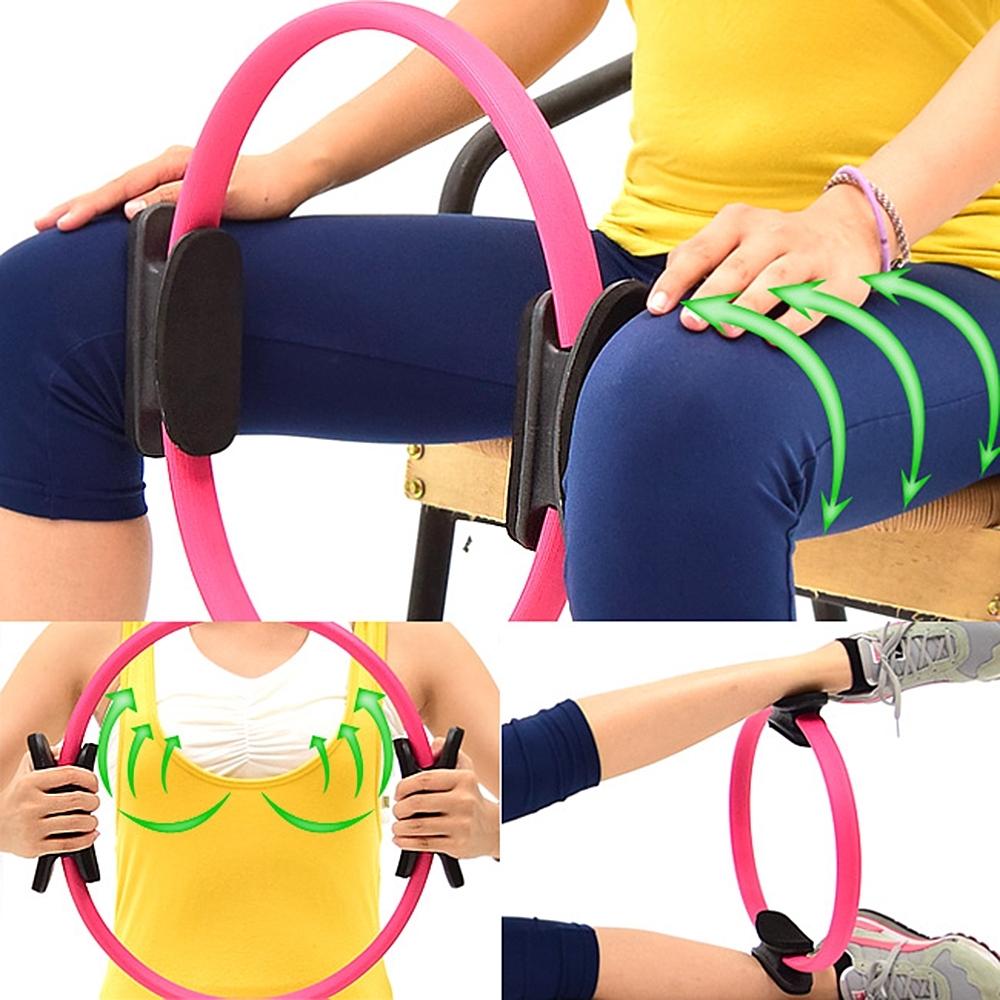 有氧美型彈力韻律圈  /健身圈美腿夾瑜珈圈美體圈.健身環-快