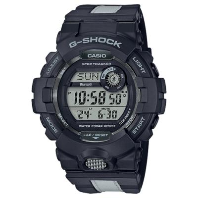 CASIO卡西歐G-SHOCK藍牙G-SQUAD系列耐衝擊手機構造手錶(GBD-800LU-1)