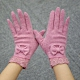 米蘭精品 羊毛手套-蕾絲蝴蝶結柔軟保暖女手套73or6 product thumbnail 1