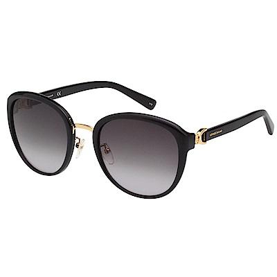 LONGCHAMP 太陽眼鏡 (黑配金色)LO628SK