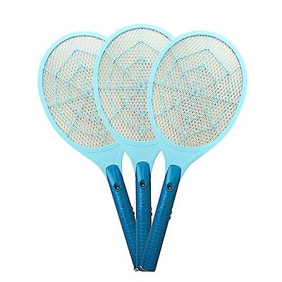 (3入組)勳風 蠅蚊殺手捕蚊拍電蚊拍(HF-990A)LED燈/三層網