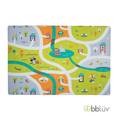 【bbluv】繽紛雙面遊戲地墊 - 童遊尋寶   格紋防滑、柔彈無毒、防水好清潔