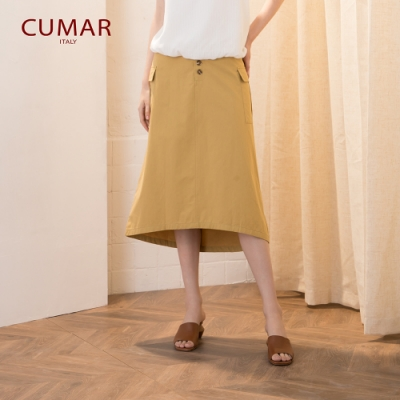 【CUMAR】經典鈕釦造型-長裙(二色/版型適中)