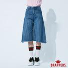 BRAPPERS 女款 新美腳 ROYAL系列-中腰褲口不收邊寬褲-淺藍