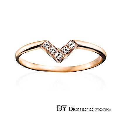 DY Diamond 大亞鑽石  L.Y.A輕珠寶 18K玫瑰金 心戀 鑽石線戒