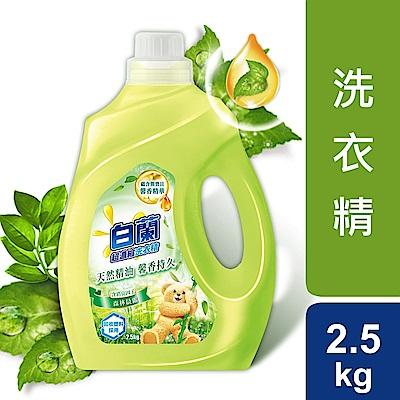 白蘭 含熊寶貝馨香精華森林晨露洗衣精瓶裝2.5KG_箱購4入
