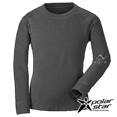 PolarStar 中性 圓領刷毛保暖衣『黑色』 P18207