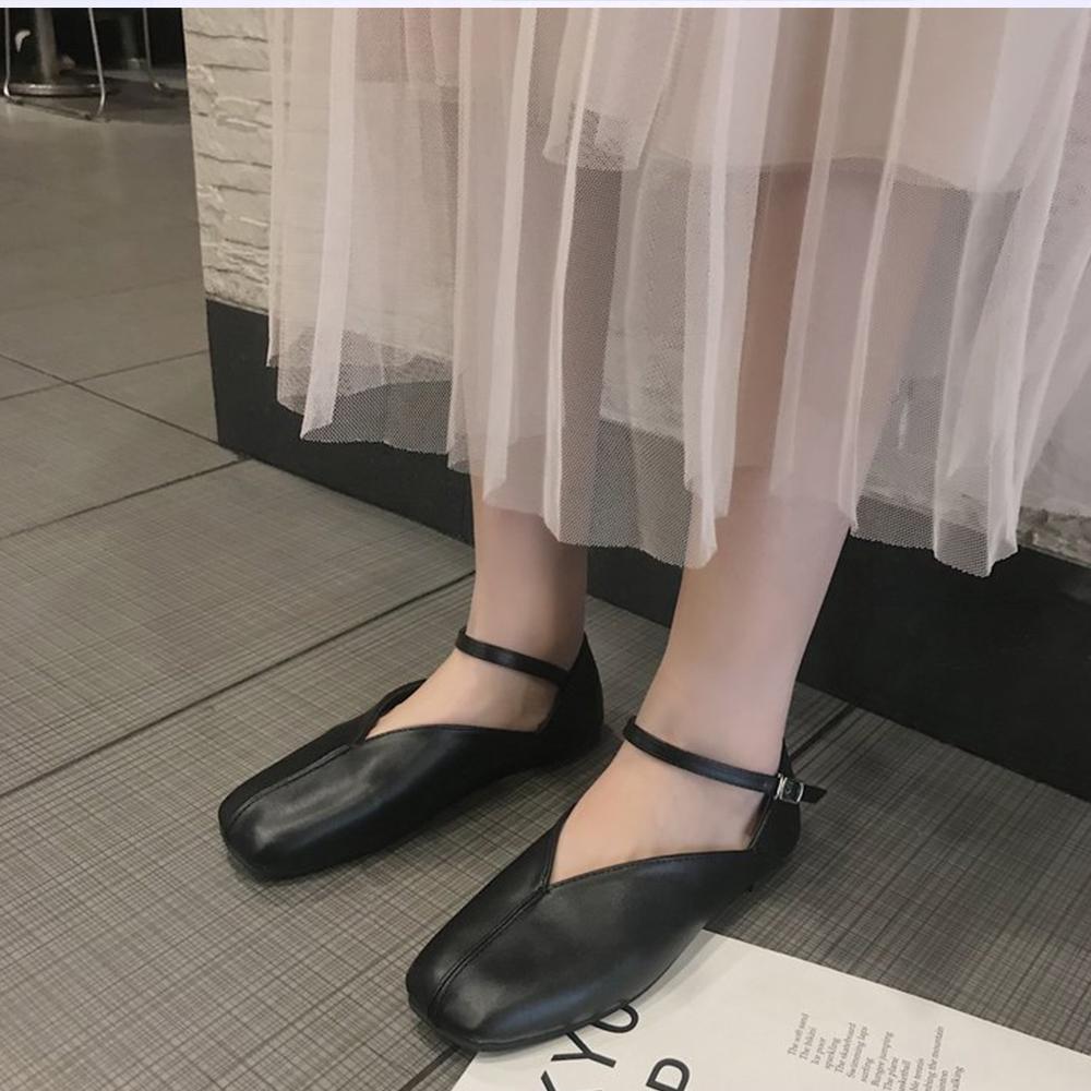 韓國KW美鞋館 韓式名媛甜美名媛平底鞋-黑色
