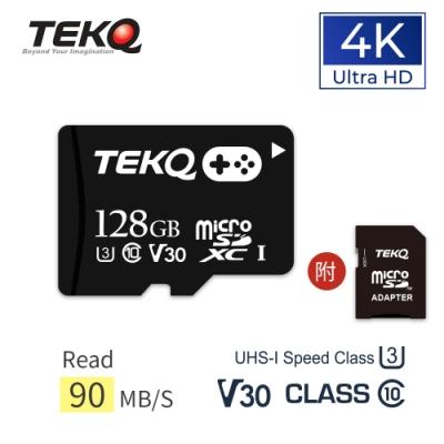 TEKQ microSD UHS-I U3 V30 A1 128G 電玩專用 記憶卡 附轉卡