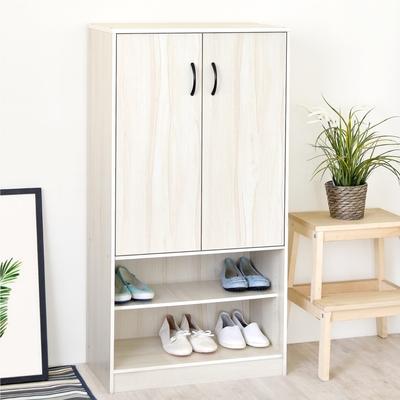 [時時樂限定]《HOPMA》DIY巧收摩爾機能雙門鞋櫃