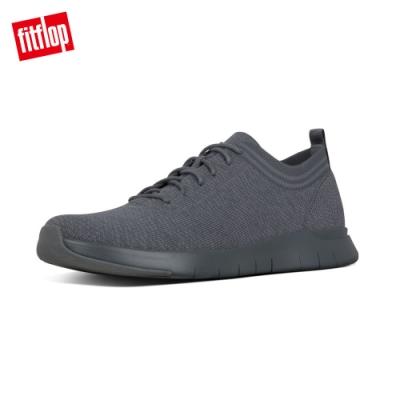 FitFlop FINEKNIT運動風繫帶休閒鞋 炭灰色