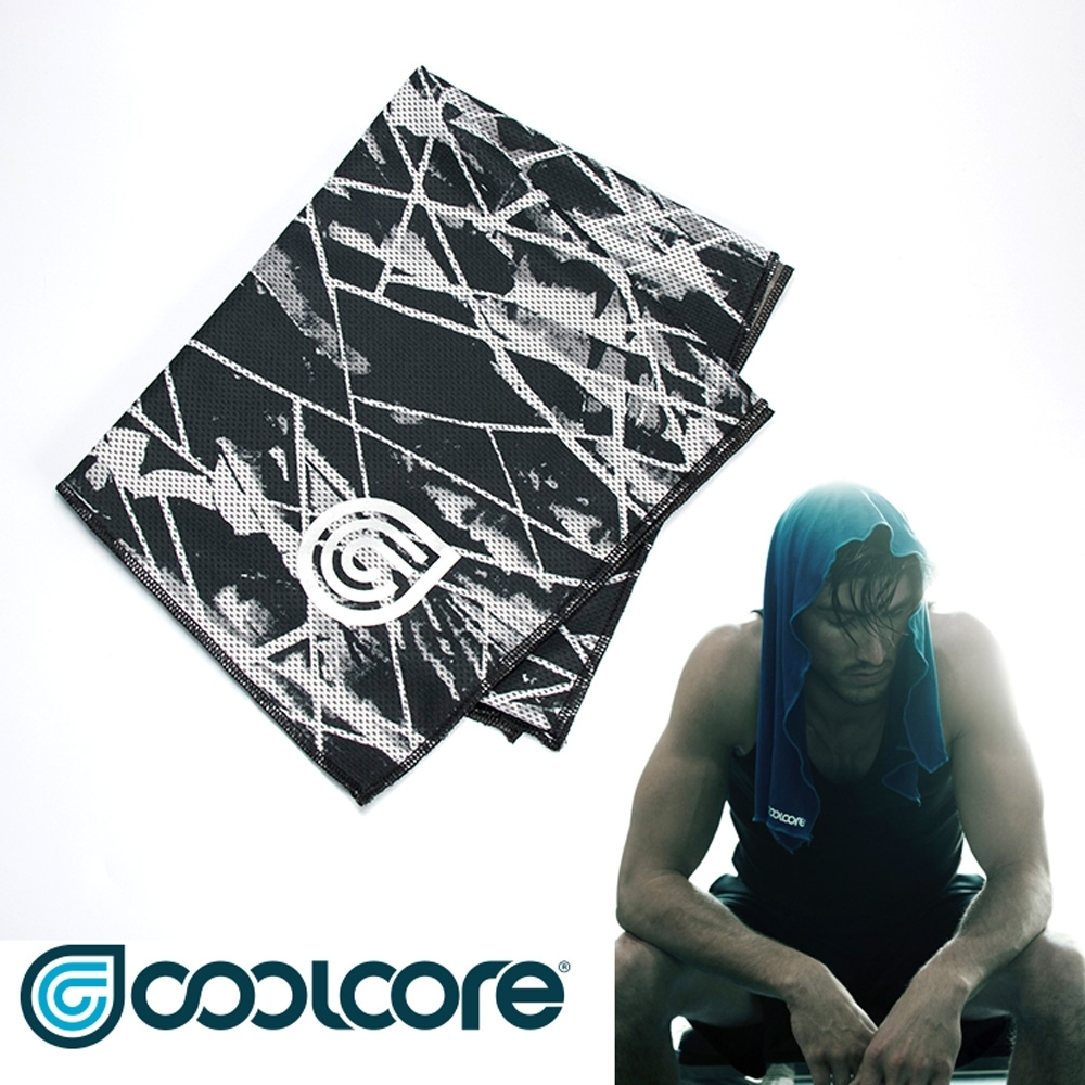 COOLCORE Chill Sport 涼感運動巾【印花系列 】黑色刻痕 product image 1
