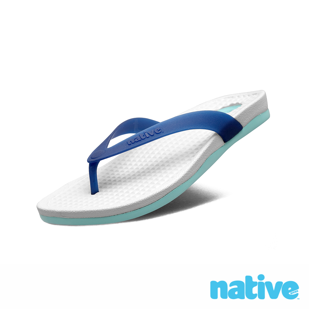native PAOLO 男/女拖鞋-霧灰x泳池藍