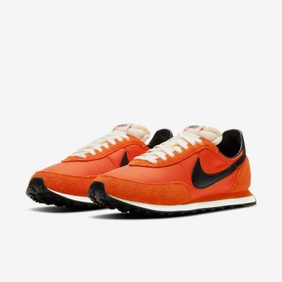 Nike 休閒鞋 Waffle Trainer 2 男女鞋 基本款 復古 簡約 情侶穿搭 舒適 球鞋 橘 黑 DB3004800