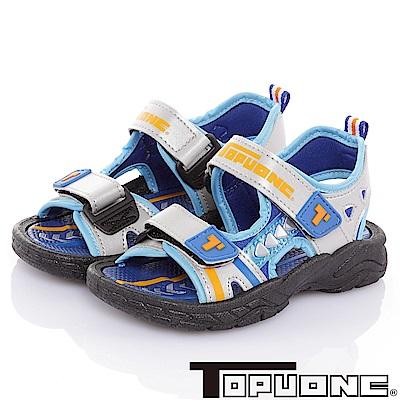 (雙11)TOPUONE 輕量減壓吸震防滑運動休閒涼鞋-灰