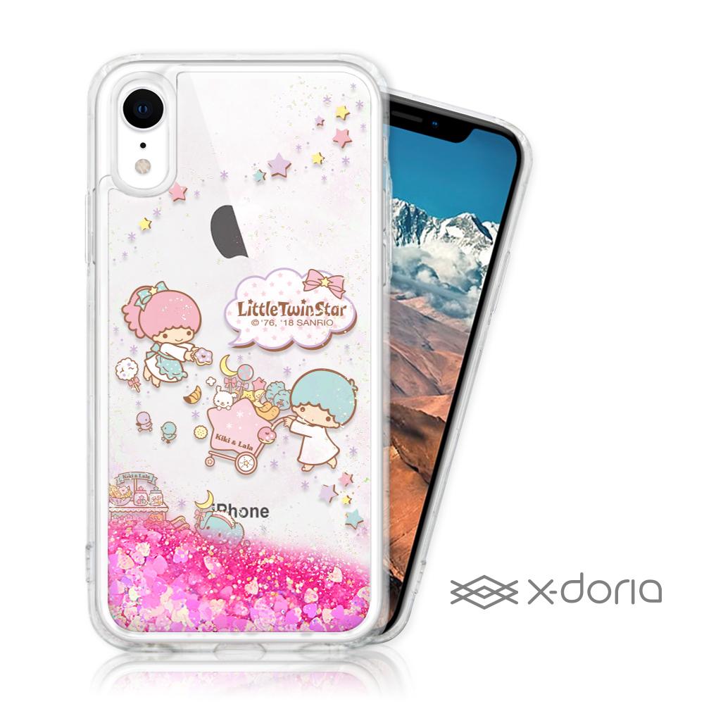 三麗鷗 雙子星 iPhone XR 亮片流沙手機軟殼 - 甜點樂園