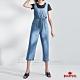 BRAPPERS 女款 Boy friend系列-鬆緊帶收腰吊帶寬褲-淺藍 product thumbnail 1