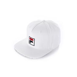 FILA 時尚LOGO帽-白 HTU-1100-WT