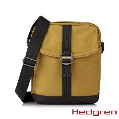 【Hedgren】GREAT綠色循環 RFID側背方包-蜜黃