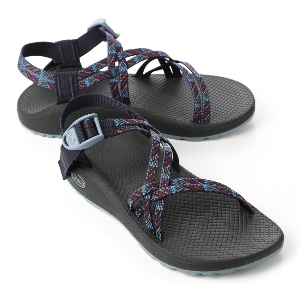 美國Chaco。女 越野舒壓運動涼鞋-雙織標準款CH-ZLW03HG10 (海軍利恩)
