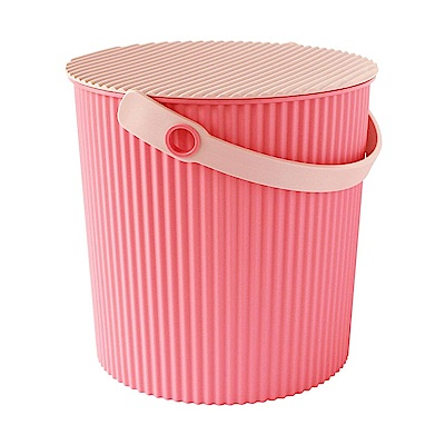 日本優秀設計獎賞HACHIMAN時尚L型10公升收納桶(粉紅色系)
