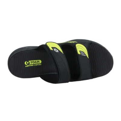LOTTO 男激流雙密度拖鞋-海邊 海灘 戲水 游泳 沙灘 LT1AMS3190 黑芥末綠