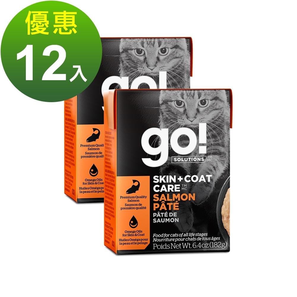 go! 豐醬野生鮭魚 182g 12件組 鮮食利樂貓餐包 (主食罐 肉泥)