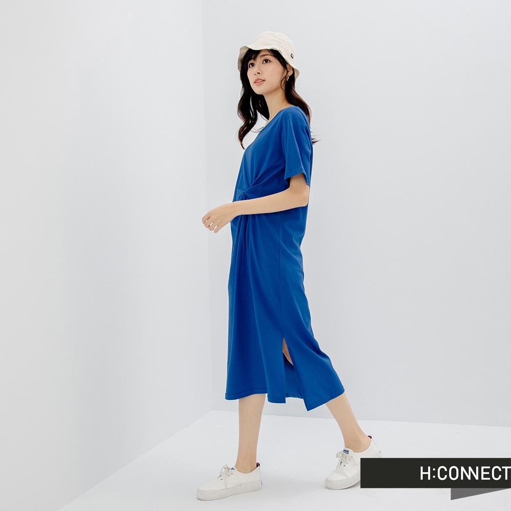 H:CONNECT 韓國品牌 女裝- 腰部抓皺側邊開衩洋裝
