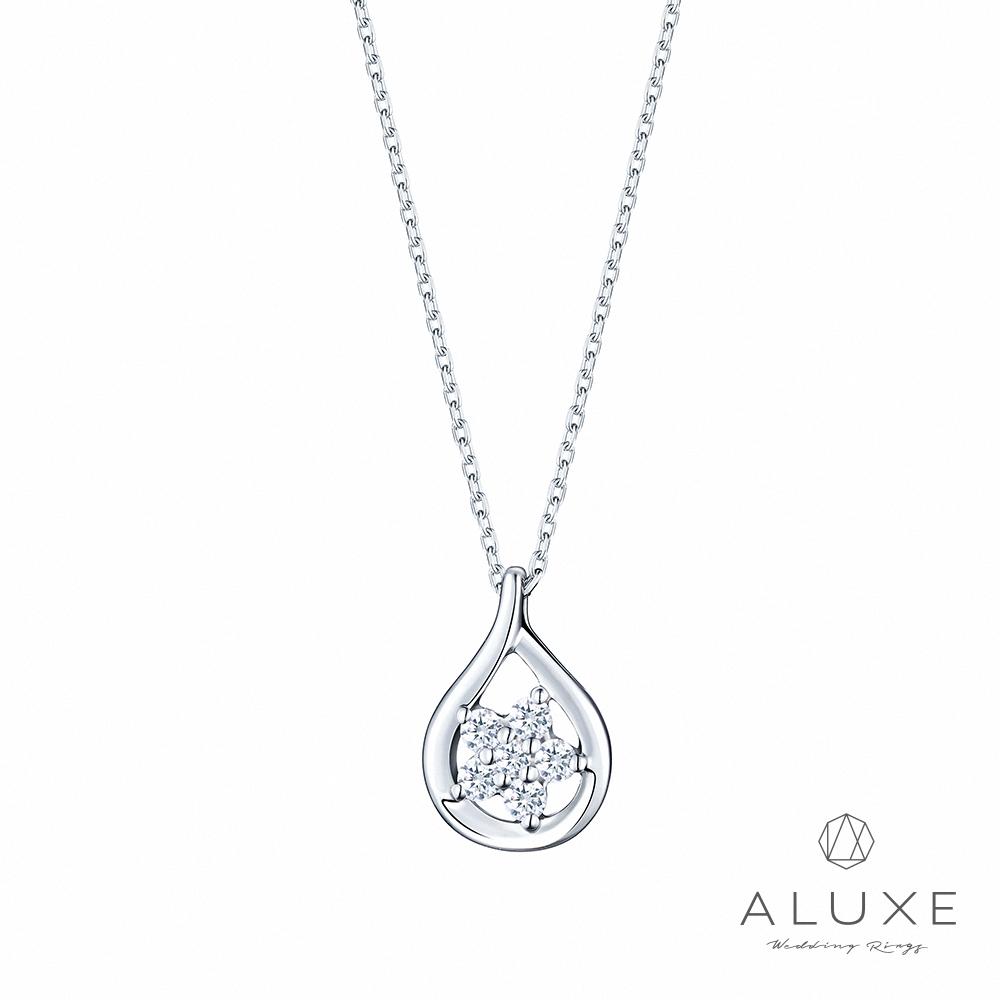 ALUXE 亞立詩 愛的鋒芒18K金鑽石項鍊