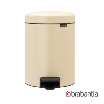 【Brabantia】 NEWICON環保垃圾桶-5L杏仁黃