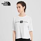 The North Face北面女款白色吸濕排汗短袖T恤|46J1FN4