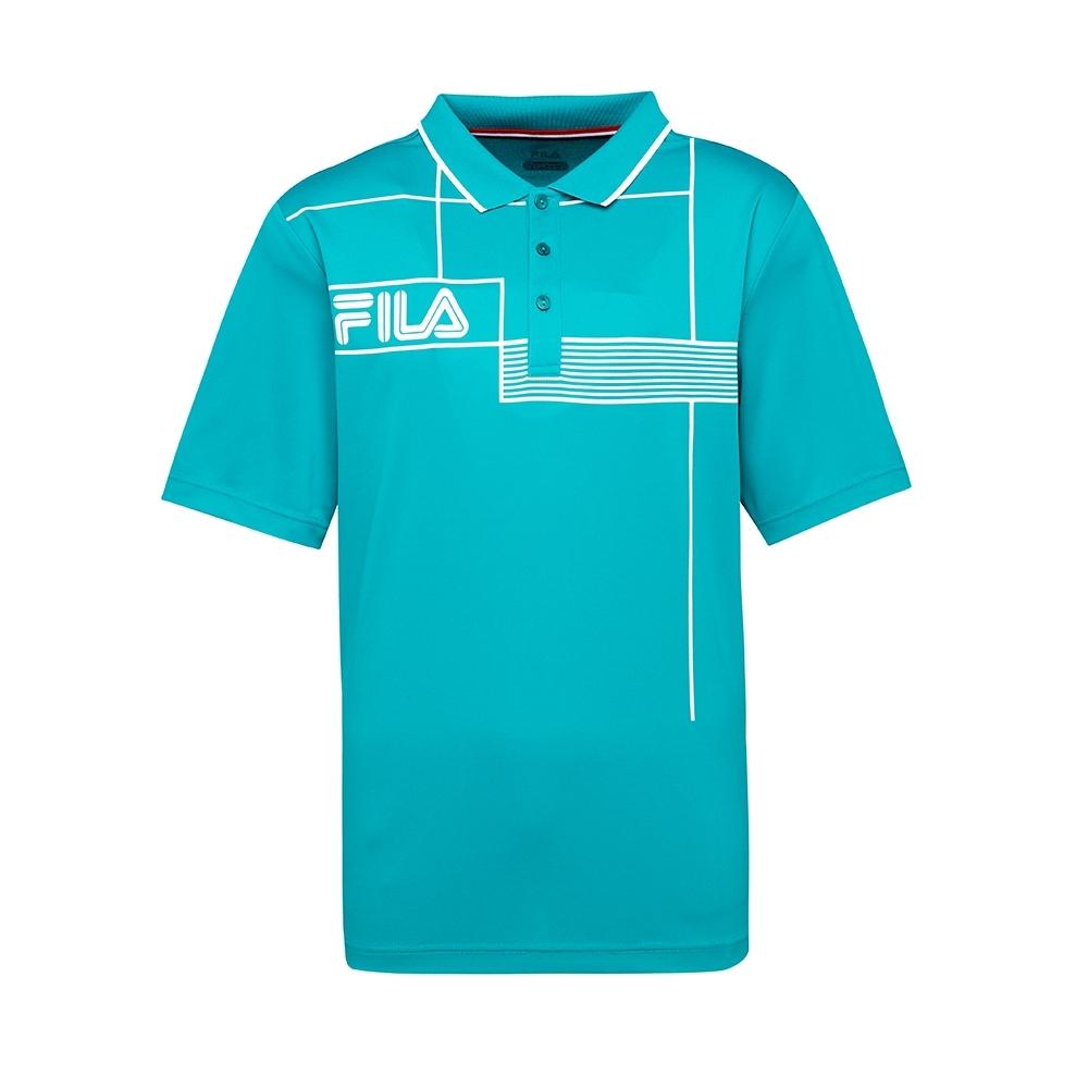 FILA 男抗UV吸濕排汗POLO衫-綠色 1POT-5003-GN