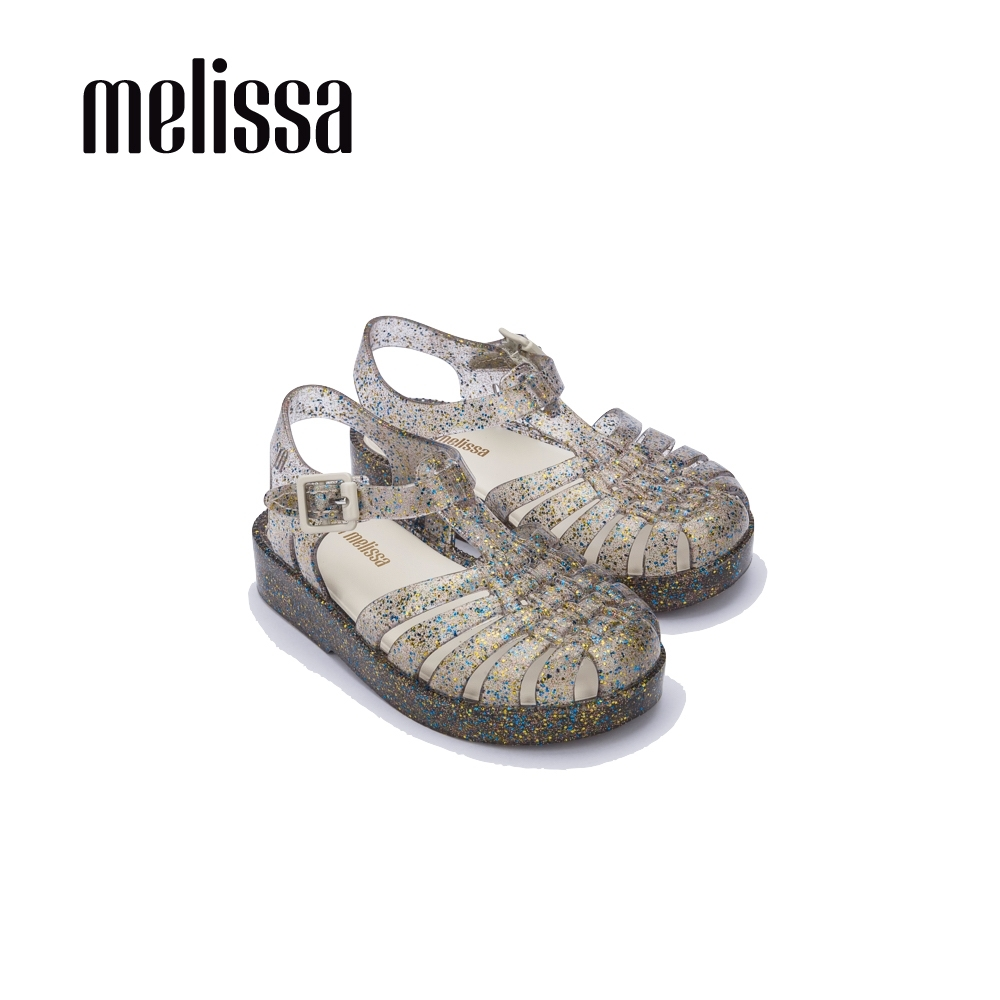Melissa 閃耀果凍漁夫鞋  寶寶款-閃耀銀