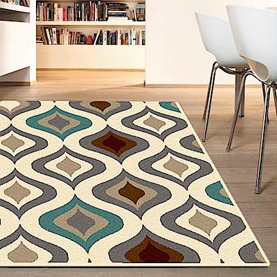 范登伯格 - 娜拉 進口仿羊毛地毯 - 彩繪玻璃 (133 x 190cm)