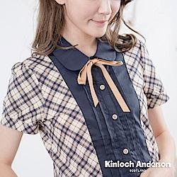 【Kinloch Anderson金安德森女裝】學院經典格紋假兩件上衣